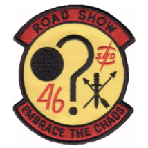 """5"""" Air Force 1ST Sos Road Show Embrace The Chaos Goose 46 Embroidered Patch - $23.74"""