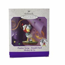 Hallmark 1998 Disney Mickey & Co Donald Duck Golf Practice Swing Ornamen... - $9.46