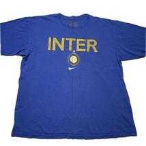 Men's Nike Inter Milan Graphic Center Swoosh Short Sleeve T Shirt Blue S... - £21.54 GBP