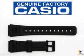 CASIO F-105W 18mm Original Black Rubber Watch Band Strap F-91W F-94W - $15.95
