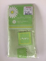 Springtime Table Napkins 4 in Package Tulip Eggs Hemstitch Green Easter NWT - $9.00