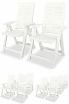 White Patio Dining Chairs Camping Garden Folding Reclining Seats Furnitu... - $130.63+
