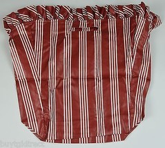 Longaberger 1998 Winter Wishes Berry Basket Liner Red Stripe Home Decor Accent - $12.99