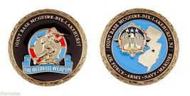 "JOINT BASE MCGUIRE DIX LAKEHURST AIR FORCE ARMY MILITARY 1.75"" CHALLENGE... - $16.24"