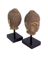 Bookend  office desk sculpture Buddha bookends Bey Berk gift decor   - $84.95