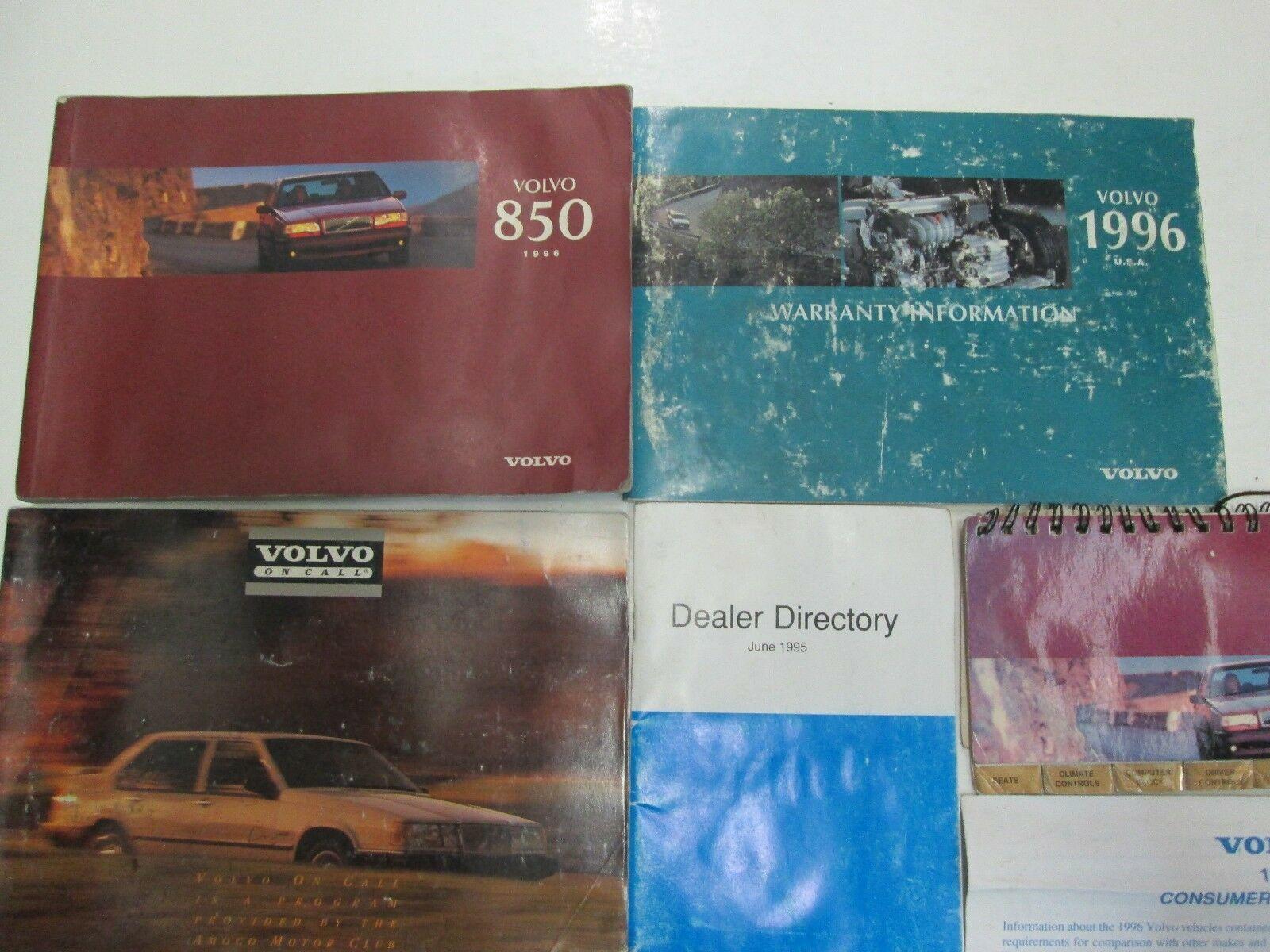 1996 Volvo 850 Owners Manuell Set Wasser Beschädigt Neu Fabrik OEM Buch 96 *** image 3