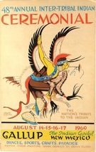 Louie Ewing Gallup 48th Inter-Tribal Ceremonial Poster 1969 Hawk Dancer ... - $295.00