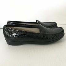 SAS Tripad Black Size 8 N Crocodile Print Leather Womens Flats Loafers  $139 - $23.99