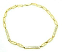 Pcraft Clear Rhinestone Gold Tone Chain Link Rope Chain Necklace Vintage... - $19.79