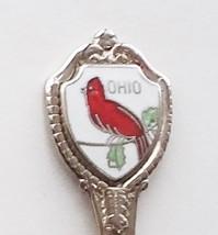 Collector Souvenir Spoon USA Ohio Cardinal Cloisonne Emblem Map Bowl - $2.99