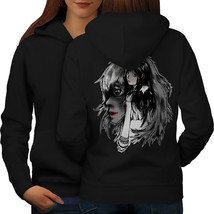 Beautiful Anime Lady Sweatshirt Hoody Mysterious Women Hoodie Back - $21.99+