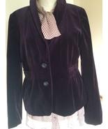 Women's Blazer,US Size 12,Purple,Velvet,J.CREW - $74.25