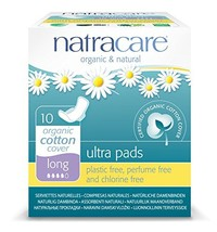 Natracare Natural Ultra Pads with Wings, Long, 10-Count Boxes Pack Of 12
