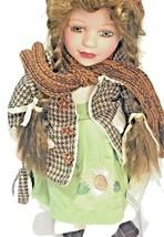 """Vanessa Ricardi Porcelain Doll Brunette Green Eyes 18"""" Timeless Treasures  - $29.69"""