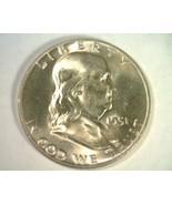 1951-D FRANKLIN HALF DOLLAR GEM UNCIRCULATED FULL BELL LINES GEM FBL ORI... - $175.00