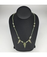 "12.5g,2mm-28mm, Small Green Nephrite Jade Arrowhead Beaded Necklace,20"",... - $4.75"