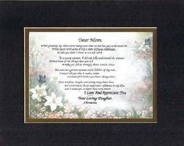 Personalized Touching and Heartfelt Poem for Mothers - Dear Mom, I Love ... - $22.72