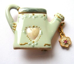 Vintage Pottery Watering Can Pin - $11.40