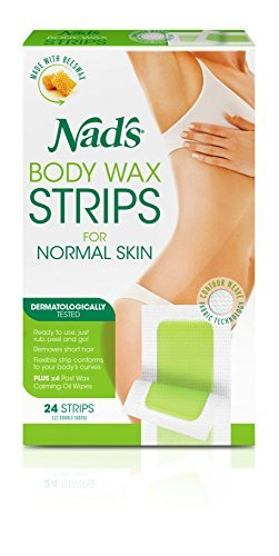 Nad's Hair Removal Strips, 24 Strips Pack of 2