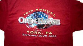 NWOT Harley Davidson York Vehicle Operations 2002 Men's L Red Hanes Beefy TShirt image 7