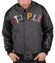 Staple New York MVP Most Valuable Pigeon Good Luck Wool Varsitity Jacket NWT