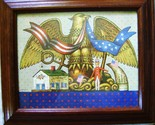 American Eagle Charles Wysocki 1983 Frame Print Liberty House Uncle Sam 4th