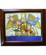 American Eagle Charles Wysocki 1983 Frame Print Liberty House Uncle Sam... - $15.00