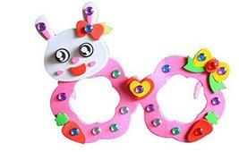 Set of 3 EVA Sticker Easy Crafts for Kids DIY Colorful Glasses(Rabbit) image 1