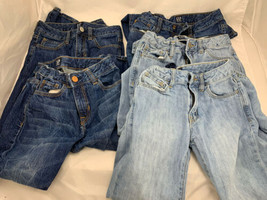 gap Kids Girl Jeans Girlfriend Fit Distressed Size 8 Regular Lot Of 5 - $28.71