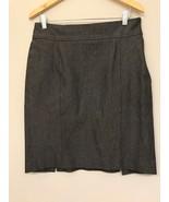 Banana Republic Womens 10 Skirt Gray Herringbone Tweed Pencil - $11.87