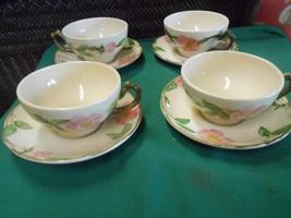 """Great Vintage FRANCISCAN """"Desert Rose"""" Set of 4 CUPS & SAUCERS - $10.11"""