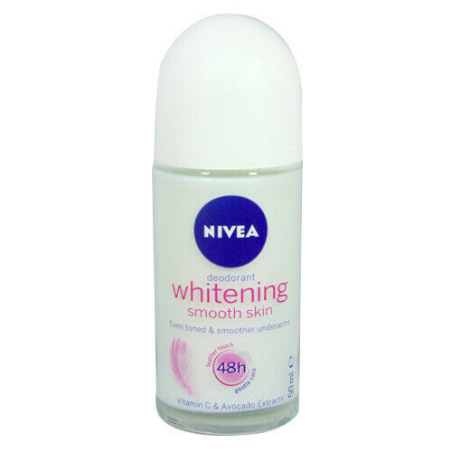 Skin Deodorant Nivea Whitening Smooth  Antiperspirant Roll on 50ml