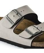 Birkenstock Womens Arizona Birko Flor Pull Up Stone Grey Narrow Sandals ... - £83.32 GBP