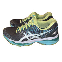 Asics Gel Nimbus 18 T650N Grey Blue Green Running Shoes Womens Size 8  - $36.63