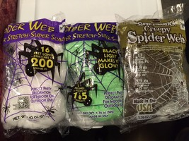 Spider Web Super Stretch - Super Creepy Party and Halloween Decorations - $1.84