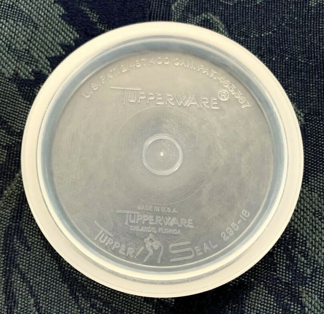 Primary image for Vintage...Tupperware...Tupper~Seal #295 Small Round LID / SEAL Only - Sheer
