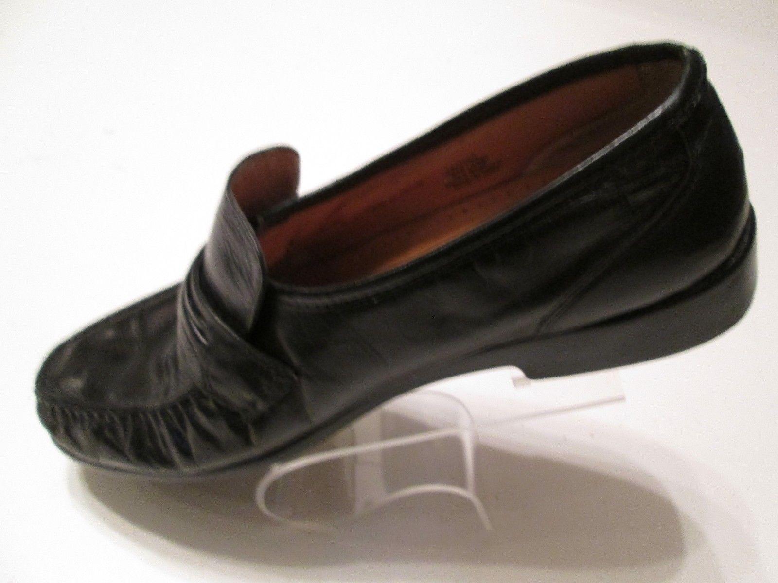 9e235c9b395f Nunn Bush Men s Loafer Size 10.5M Monk Strap Moc Toe Slip On Black Pinched  R1 -  30.99