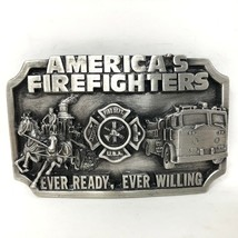 VTG Siskiyou America's Firefighters Ever Ready Willing Belt Buckle 1983 ... - $49.49
