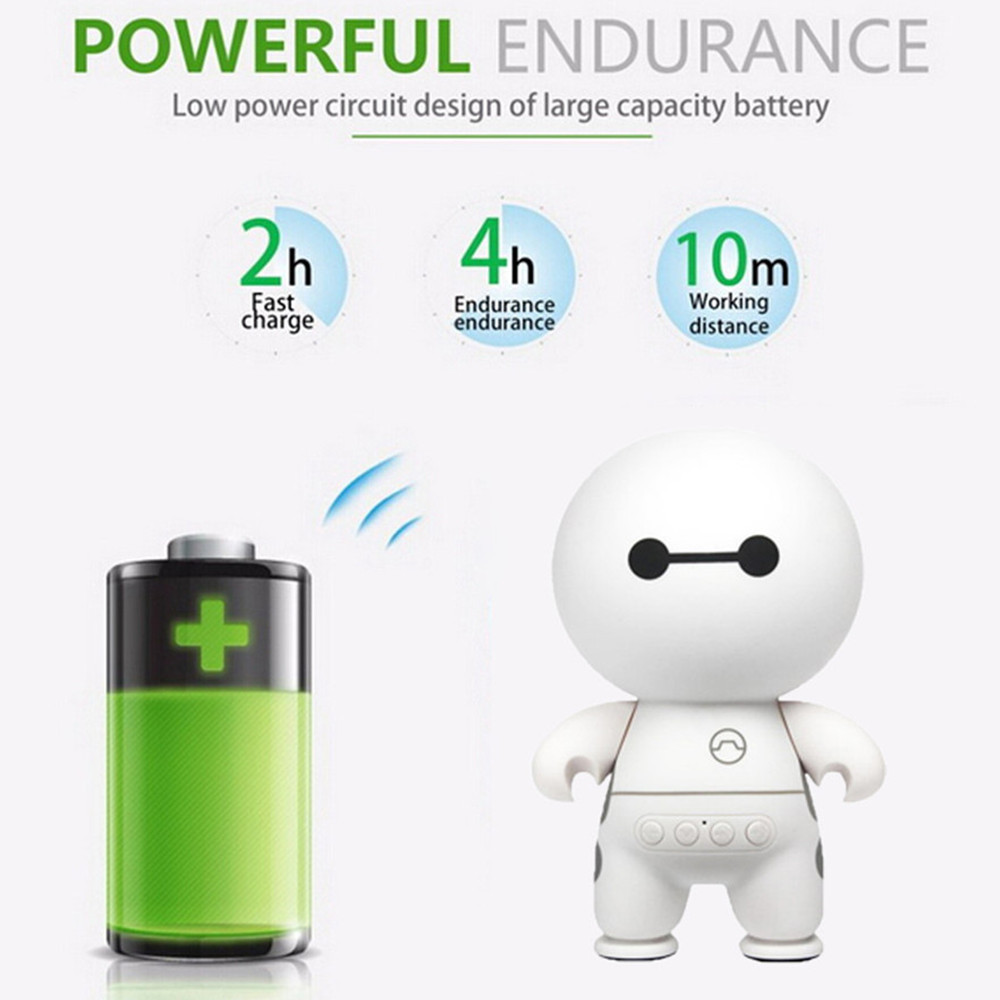 Big Hero 6 Super Cute Cartoon A9 Mini Portable Multimedia Bluetooth Speaker