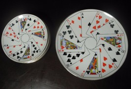 Horchow Poker Playing Cards Salad/Dessert Plate... - $29.69