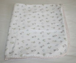 Carters Classics Baby Blanket MARY HAD A LITTLE LAMB Cotton Flannel 2 Pl... - $26.97