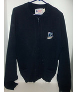 Vintage 80s USPS Post Office Worker Letter Carrier Sweater Full Zip Size... - $49.45