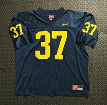 Vtg 90s Michigan Wolverines Nike Jarret Irons #37 Football Jersey Large - $43.49