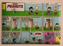 Classic Peanuts Comic Book Light Switch Power Outlet Wall Cover Plate Home Decor image 6