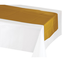 Gold / White 14 x 84 Inch Metallic Tablerunner/Case of 12 - €71,93 EUR