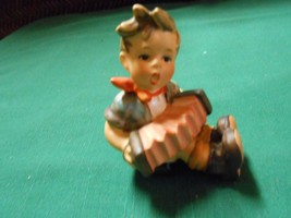 "Beautiful Vintage GOEBEL Figurine ""Boy Playing Accordian"" W.Germany.........SALE - $19.80"