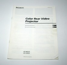 SONY Color Rear Video Projector Television TV Manual, KP-46S25, KP-53S25... - $18.29