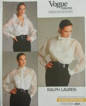 Vogue 2001 Misses Blouse Camisole Size 10 Ralph Lauren American designer... - $12.86