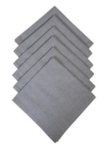 Cotton Napkins Cool Grey 6/pack - $16.69