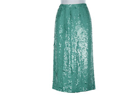 J Crew Collection No. 2 Pencil Skirt In Sequins 2 52186 Soft Mint - $147.19
